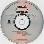 KILL EM ALL COVER ARTWORK - CD