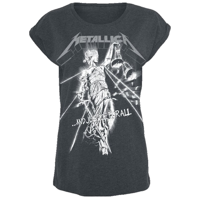 Metallica Raining Light Girl-Shirt grau