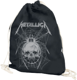 Metallica Grey Spider Turnbeutel schwarz
