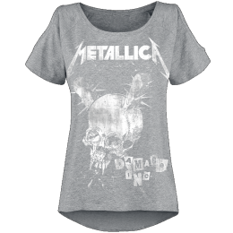 Metallica Damage Inc Girl-Shirt grau meliert