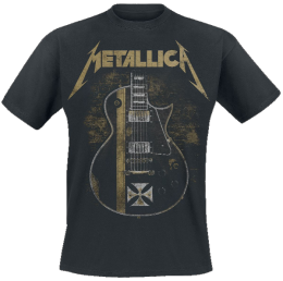 Metallica Hetfield Iron Cross Guitar T-Shirt schwarz
