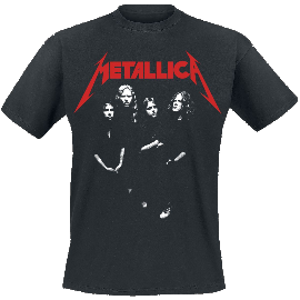 Metallica Four Faces T-Shirt schwarz