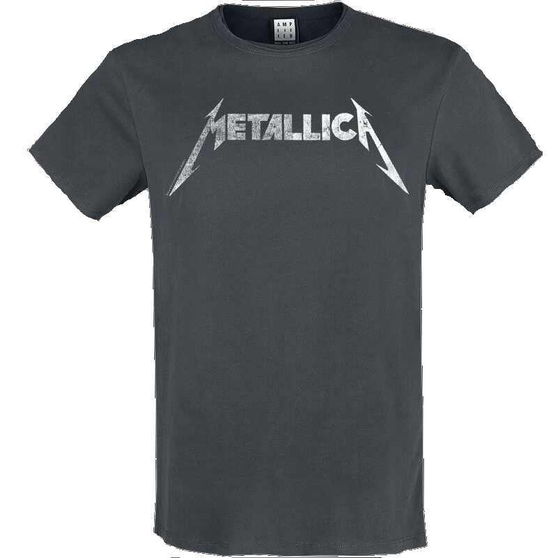Metallica Amplified Collection - Logo  T-Shirt  charcoal