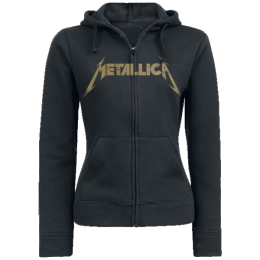 Metallica Hetfield Iron Cross Guitar Girl-Kapuzenjacke schwarz