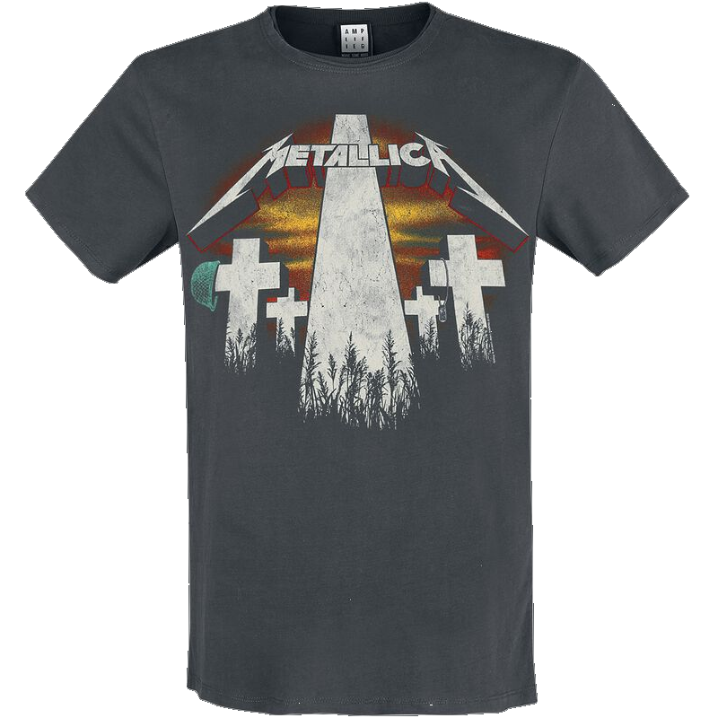 Metallica Amplified Collection - Master Of Puppets Revamp  T-Shirt  charcoal