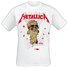 Metallica One Landmine T-Shirt weiss