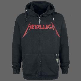 Metallica Master of Puppets Faded Kapuzenjacke schwarz