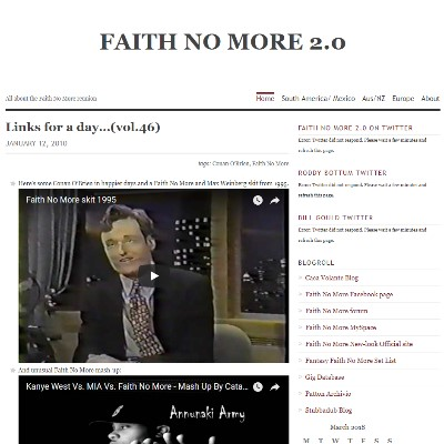 Faith No More Blog 2.0