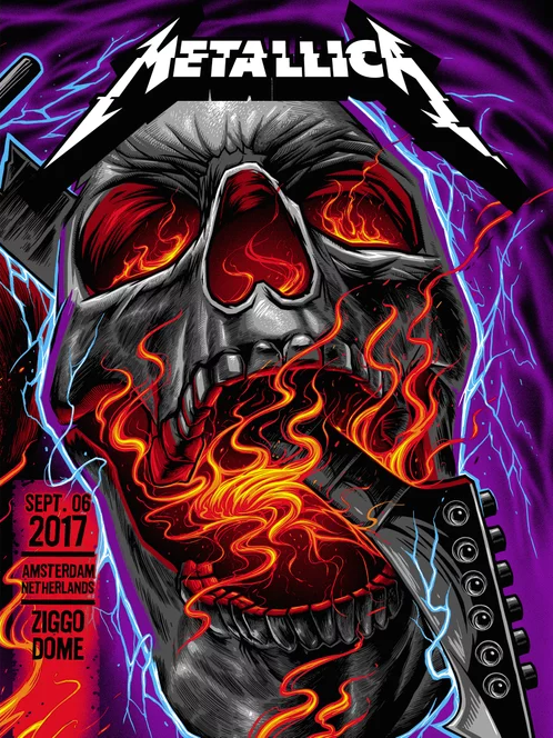 Metallica Tourposter 2017-09-06 - Amsterdam