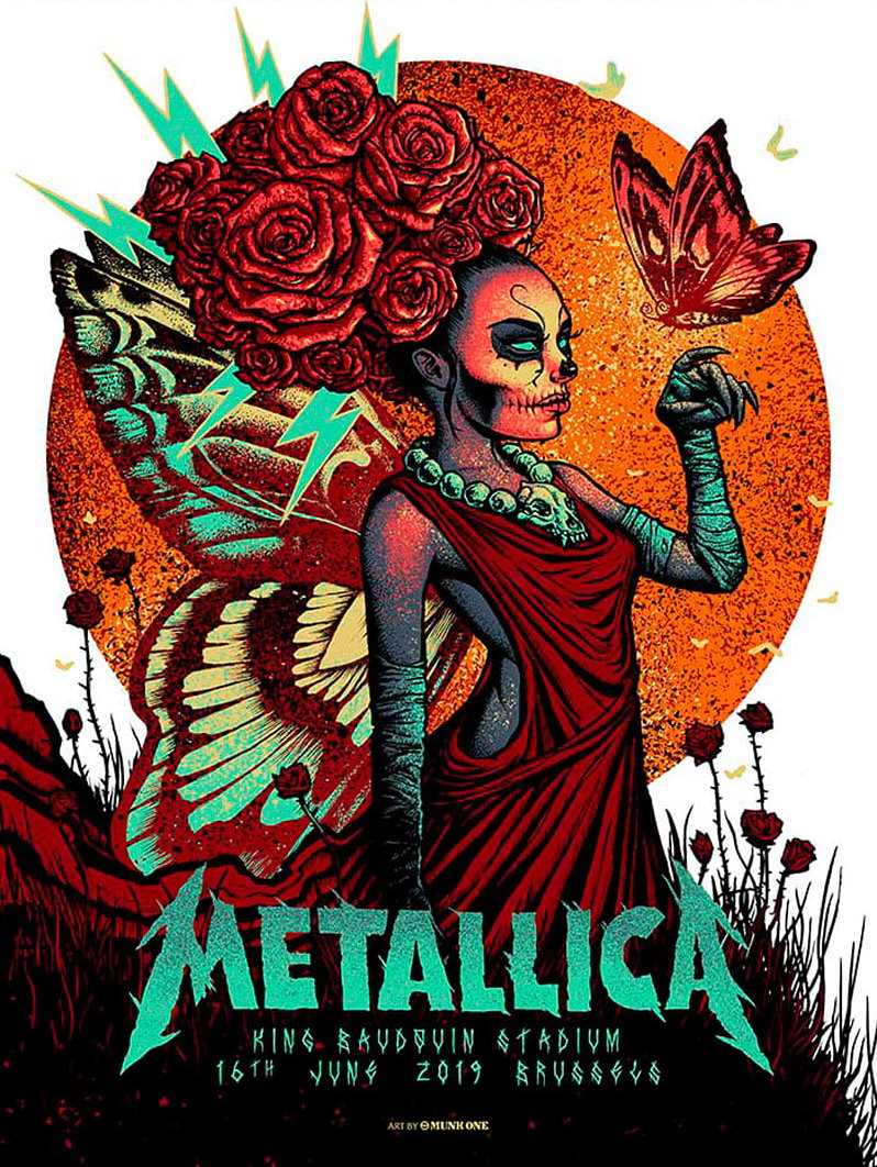 Metallica Tourposter 2019-06-16 - Brüssel