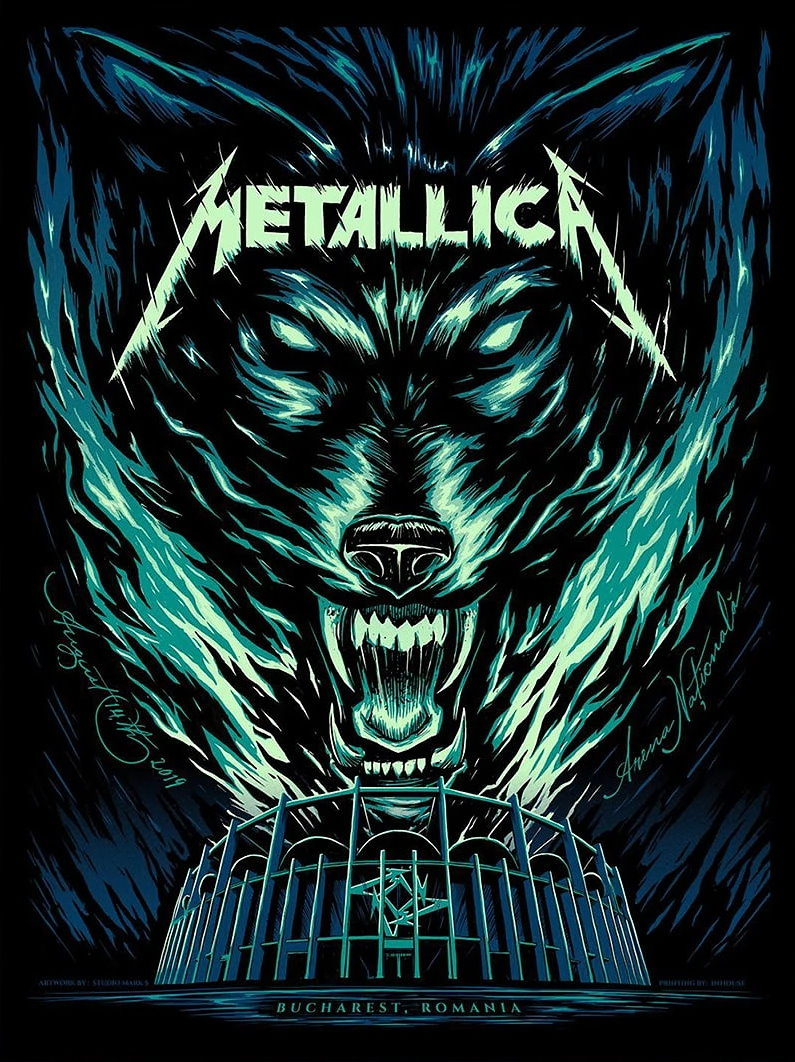 Metallica Tourposter 2019-08-14 - Bukarest