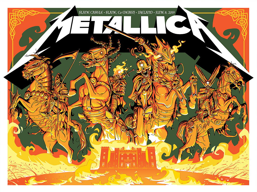 Metallica Tourposter 2019-06-08 - Dublin