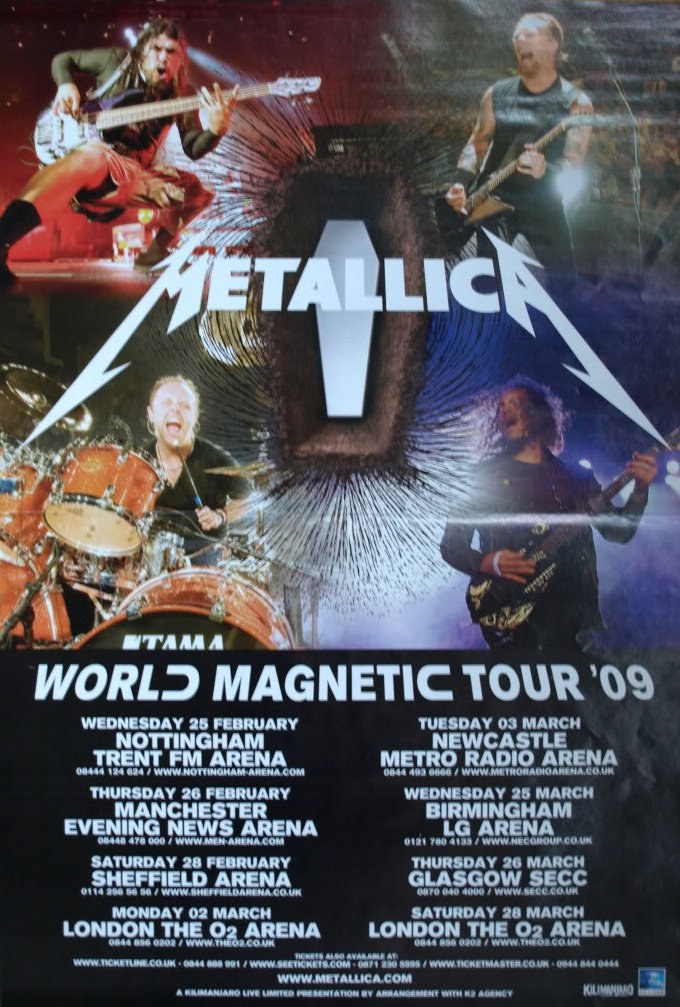 Metallica Tourposter 2009-02-25 - Nottingham