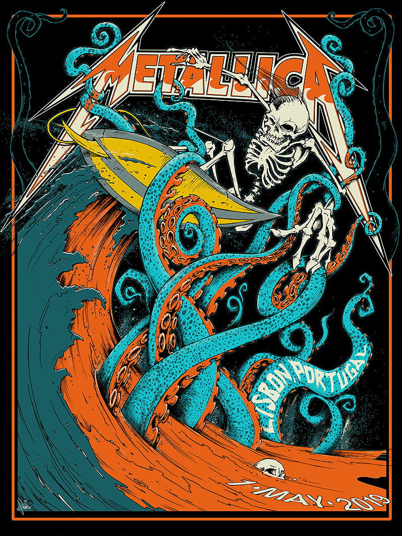 Metallica Tourposter 2019-05-01 - Lissabon