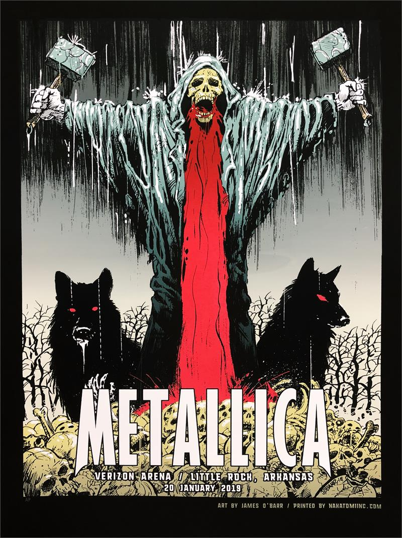 Metallica Tourposter 2019-01-20 - Little Rock, AR