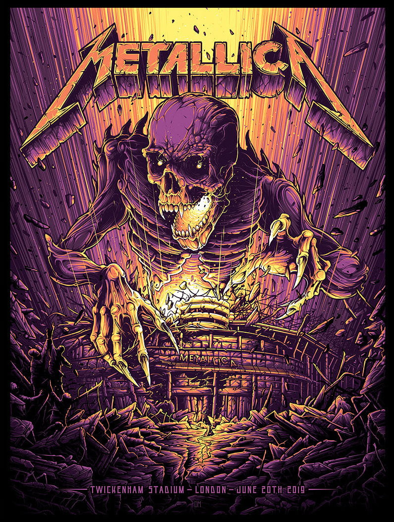 Metallica Tourposter 2019-06-20 - London