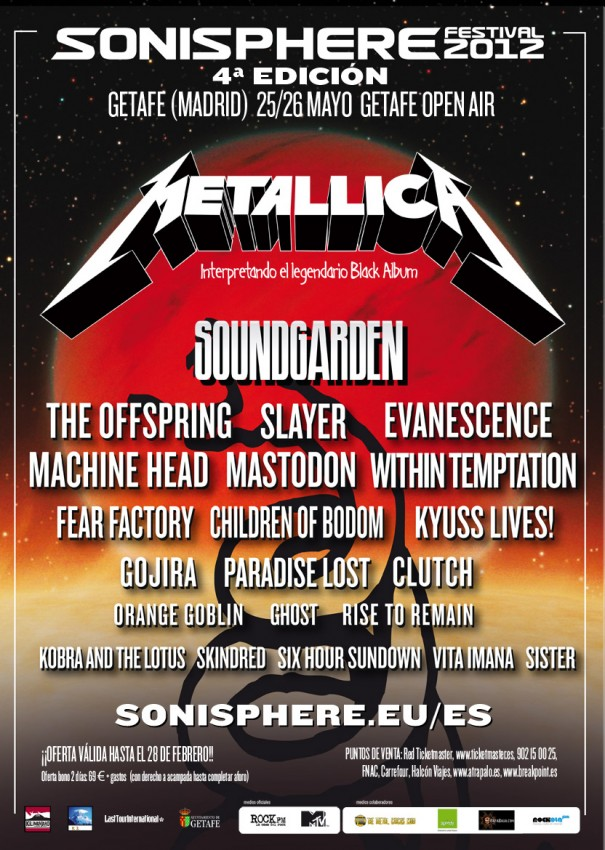 Metallica Tourposter 2012-05-26 - Getafe
