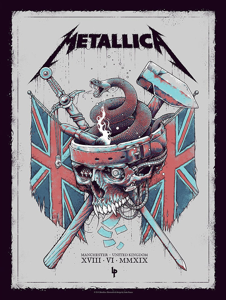 Metallica Tourposter 2019-06-18 - Manchester