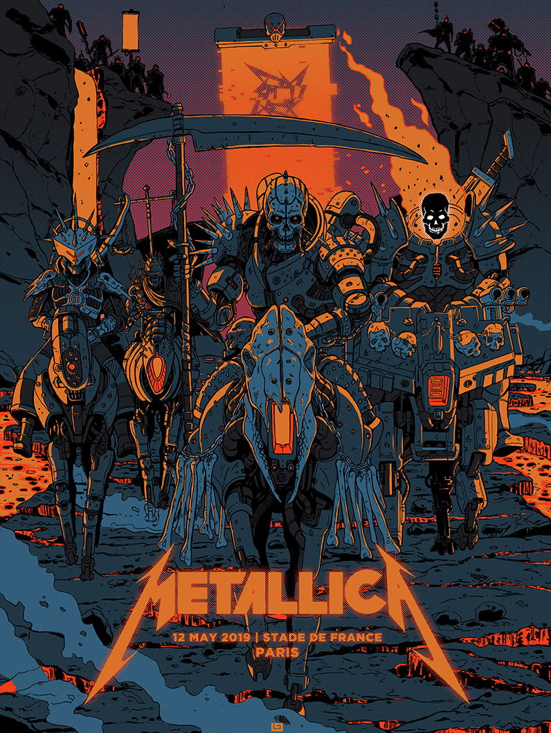 Metallica Tourposter 2019-05-12 - Paris