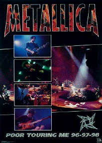 Metallica Tourposter 1998-08-02 - The Woodlands, TX