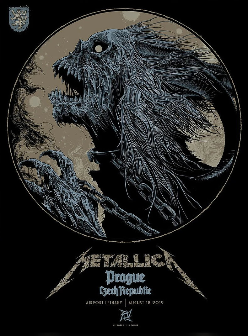 Metallica Tourposter 2019-08-18 - Prag
