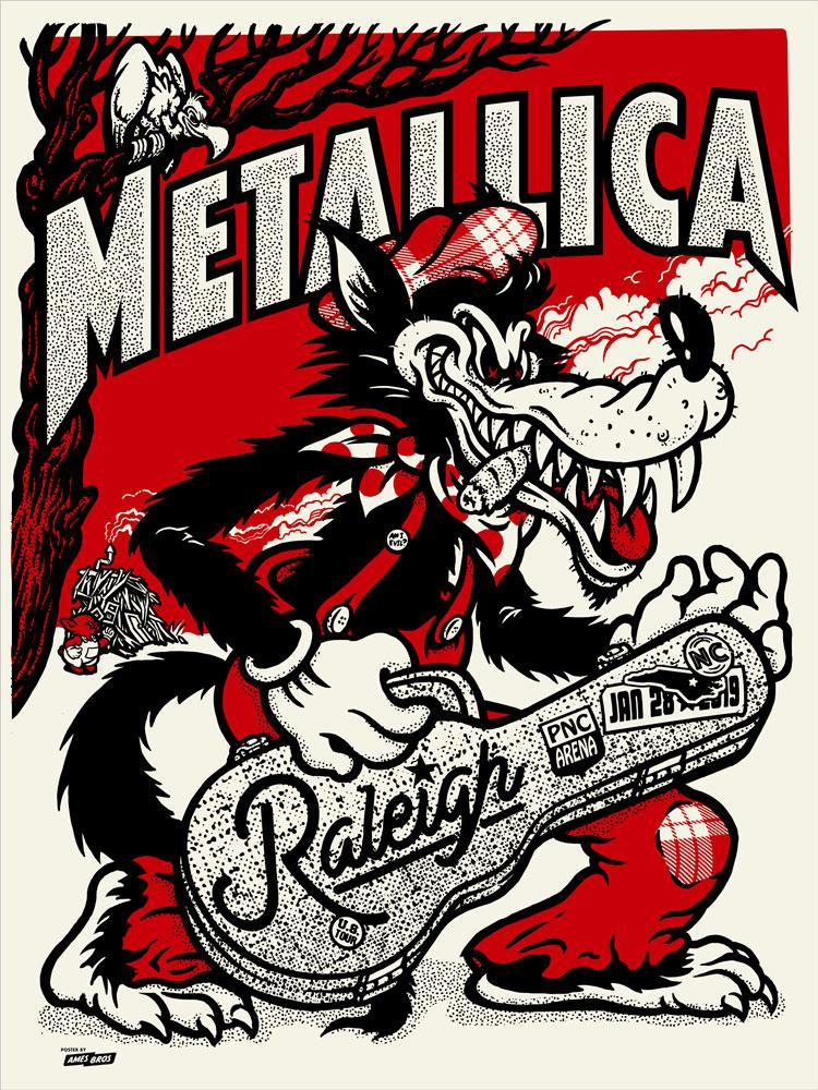 Metallica Tourposter 2019-01-28 - Raleigh, NC