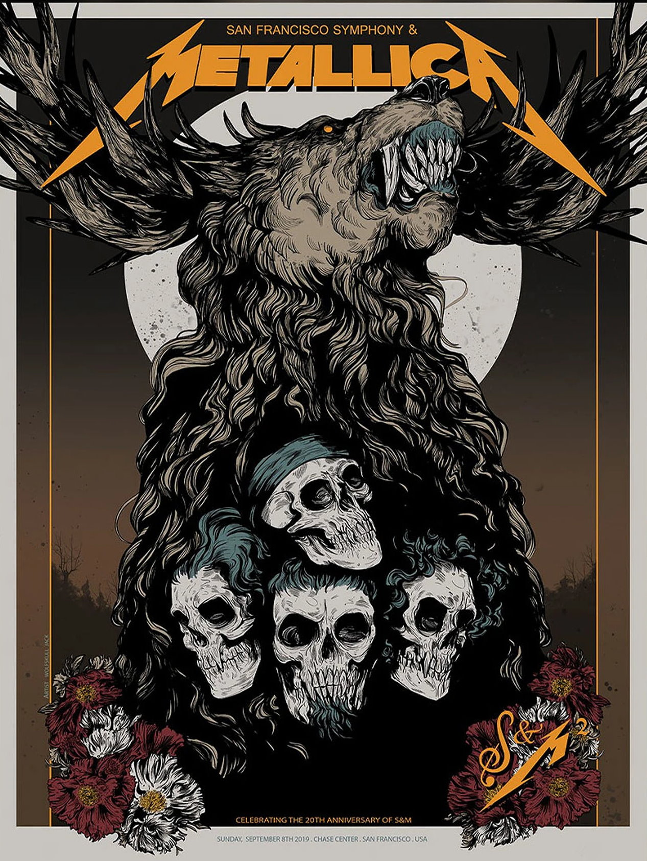 Metallica Tourposter 2019-09-08 - San Francisco, CA