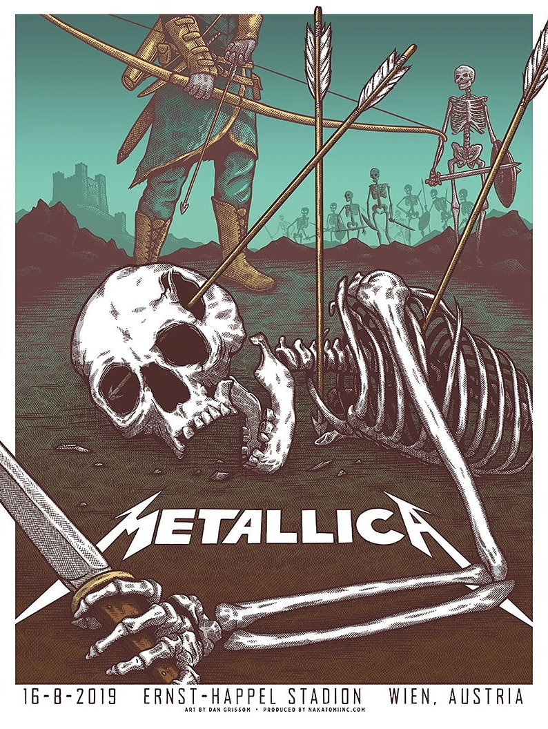 Metallica Tourposter 2019-08-16 - Wien